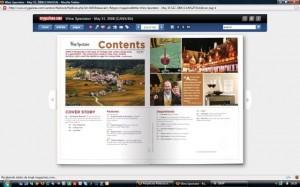 Um navegador simples como um PDF para ler sua revista.