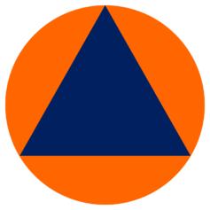 Il logo internazionale della protezione civile