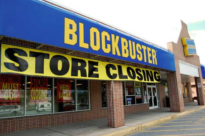 Blockbuster, chiude anche l'ultimo negozio bresciano (foto da web)