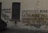 Rovato, scritte sui muri contro il sindaco Tiziano Belotti.