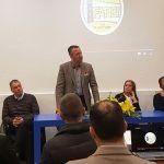 Flavio Tosi all'inaugurazione della nuova sede di Fare!, in via della Volta a Brescia - www.bsnews.it