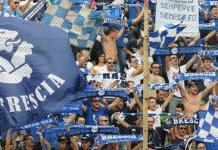 I tifosi del Brescia festeggiano, foto da sito ufficiale del Brescia Calcio - www.bsnews.it