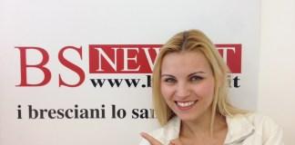 La ex velina di Striscia la Notizia Vera Atyushkina in visita alla redazione di BsNews.it nel giugno 2015 - www.bsnews.it