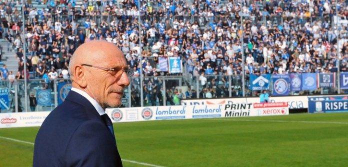 L'allenatore del Brescia Gigi Cagni, foto da sito ufficiale della società, www.bsnews.it