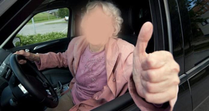 Nonna alla guida