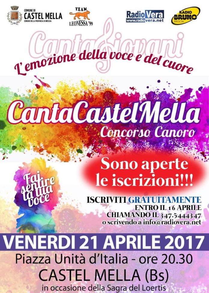 Canta Castel Mella, la locandina