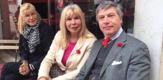 Dina Saottini con il segretario del Psi Lorenzo Cinquepalmi, foto da Facebook