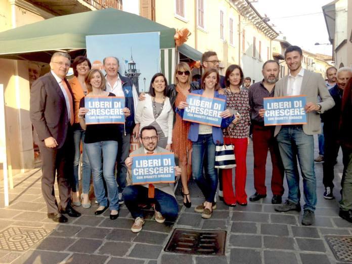 Inaugurazione sede elettorale di Valentino Righetti, candidato sindaco del Pd a Desenzano del Garda, www.bsnews.it