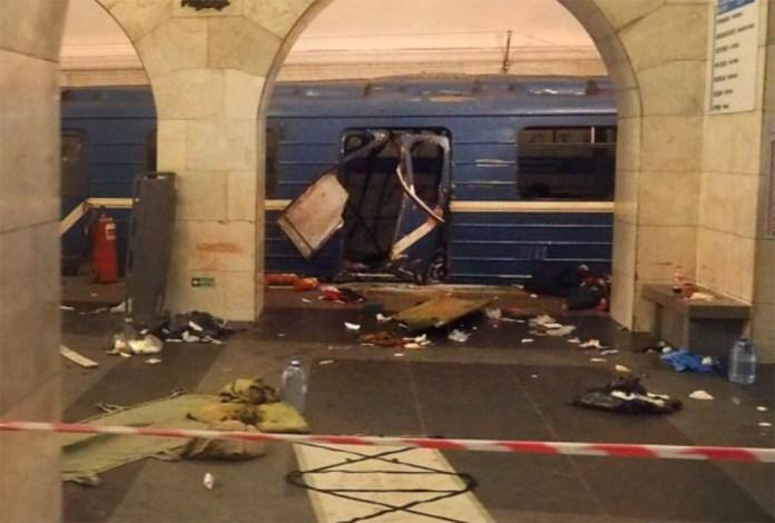 Un'immagine della bomba che ha colpito la metropolitana di Mosca