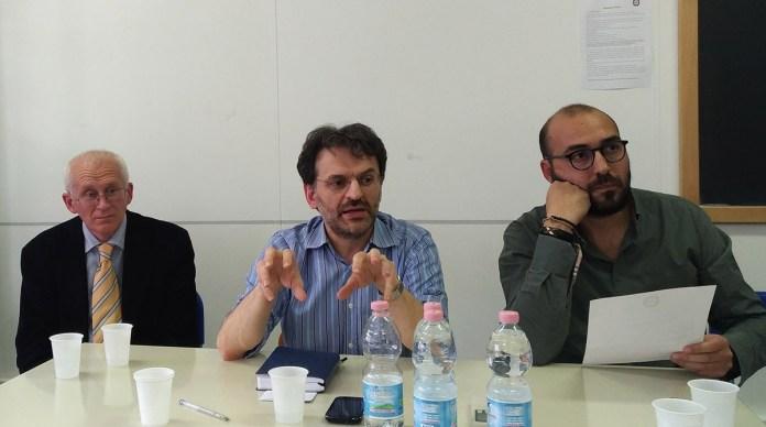 Da sinistra: Stefano Retali, Fernando Scarlata e Nicola Orto, foto Andrea Tortelli, www.bsnews.it