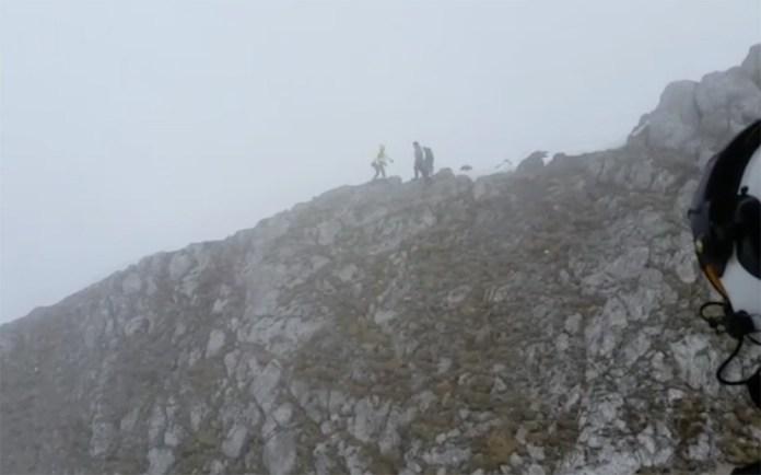 Soccorso alpino in azione (immagini dall'intervento sul Pizzo del badile camuno, del 15.04.2017), www.bsnews.it