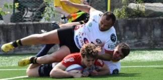 Un'azione di gioco di Radetic (Rugby Rovato), foto da sito ufficiale