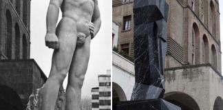Statue a confronto: il Bigio di Arturo Dazzi contro il Negher di Mimmo Paladino