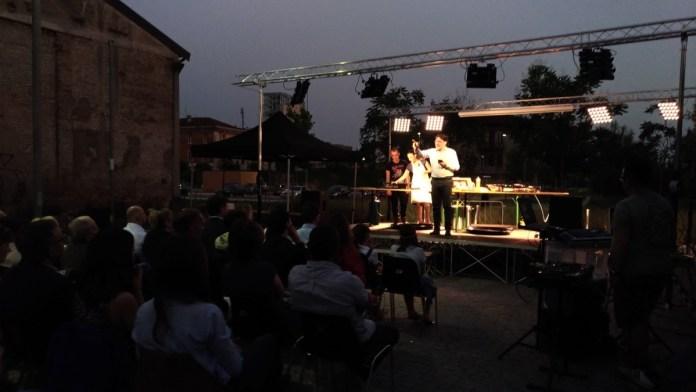 La presentazione di Francesco Buffoli dell'iniziativa teatrale promossa con 39Vantini, foto www.bsnews.it