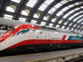 Il treno Freccia Rossa di Trenitalia