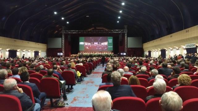 L'assemblea di Banca Valsabbina al Palabanco di Brescia, foto Andrea Tortelli, www.bsnews.it
