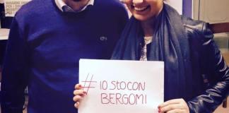Angelo Bergomi con Elena Zoppi in occasione dell'ultima campagna elettorale, www.bsnews.it