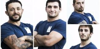Thomas Piscitelli, Alessandro Rossini, Daniele Romano e Giovanbattista Secchi Villa rinnovano il contratto - foto da ufficio stampa