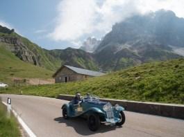Coppa d'oro delle Dolomiti, un'immagine dell'edizione 2017: Belometti e Vavassori su Fiat 508 C dl 1932