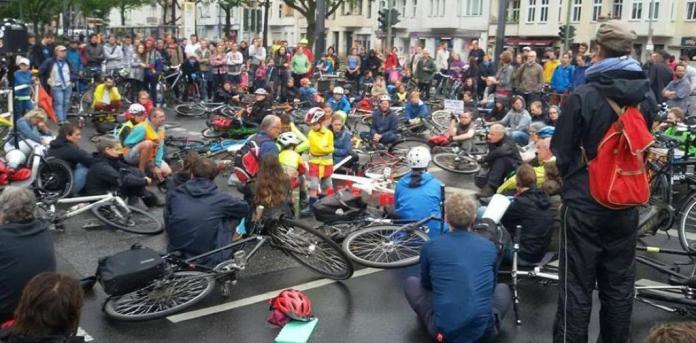 La biciclettata per Marina Fasser a Berlino
