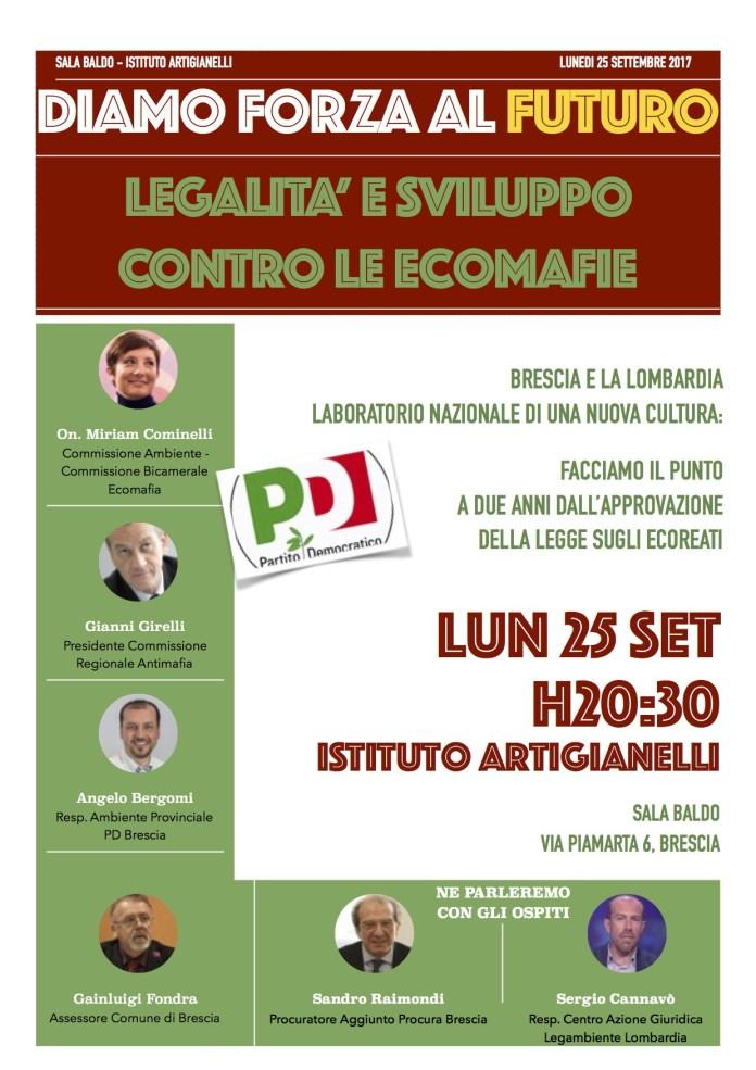 Lunedì 25 settembre agli Artigianelli di Brescia si terrà un convegno sui reati ambientali