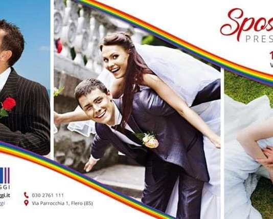 Il manifesto di Sposi in villa a Flero prima del sabotaggio
