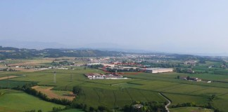 Il luogo della contestata centrale a biogas di Lonato