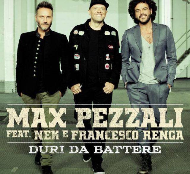 Duri da battere è la nuova canzone di Max Pezzali con Nek e Renga. I tre saranno anche in tour, con un concerto a Brescia il 22 gennaio