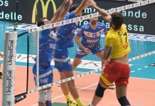 Un'azione di gioco della pallavolo Centrale McDonald's Brescia, www.bsnews.it