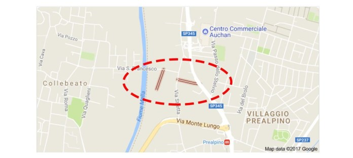 Interventi straordinari per il ponte tra via Capretti di Brescia e via San Francesco di Collebeato
