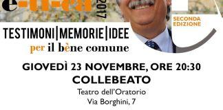 La locandina dell'evento con Gianantonio Stella a Collebeato