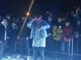 Il rapper Junior Cally a Brescia
