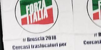 I manifesti di Forza Italia a Brescia contro il sindaco Emilio Del Bono