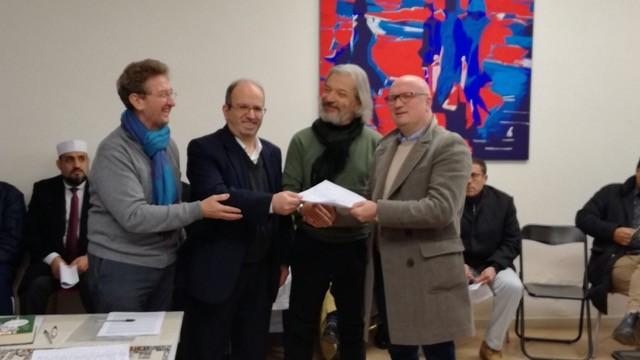 La firma del patto per un Islam Italiano a Brescia