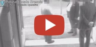 Il video della truffa messa a segno ai danni di un imprenditore tedesco a Brescia
