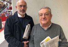 Da sinistra: il coordinatore cittadino di Fare Maurizio Marella e quello dell'Udc Giovanni Petriccione