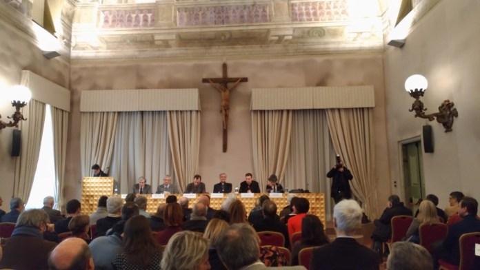 L'incontro del vescovo Tremolada con i giornalisti bresciani al Centro Paolo VI, foto Andrea Tortelli