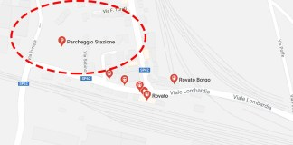 L'area del Comune di Rovato in cui potrebbe sorgere il nuovo albergo