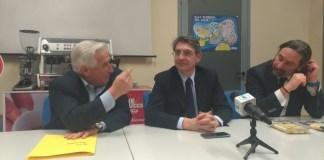 Da sinistra: Franco Dusina, Emilio Del Bono e Andrea Bartolozzi