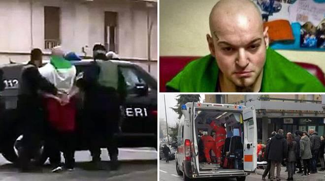 Il mitomane arrestato per aver sparato agli stranieri dall'auto a Macerata