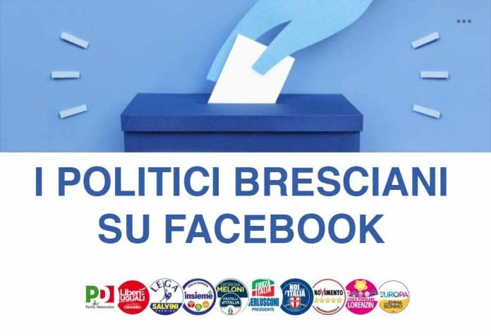 La classifica dei politici bresciani su Facebook, fonte BsNews
