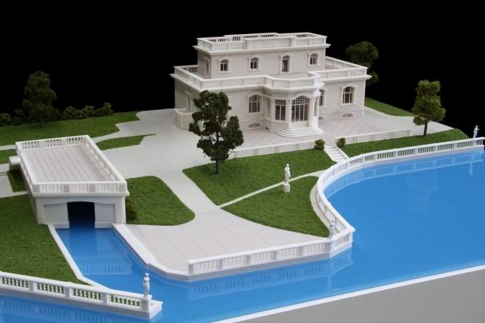 Rendering di Villa Portesina a Portese, frazione di San Felice del Benaco sul lago di Garda