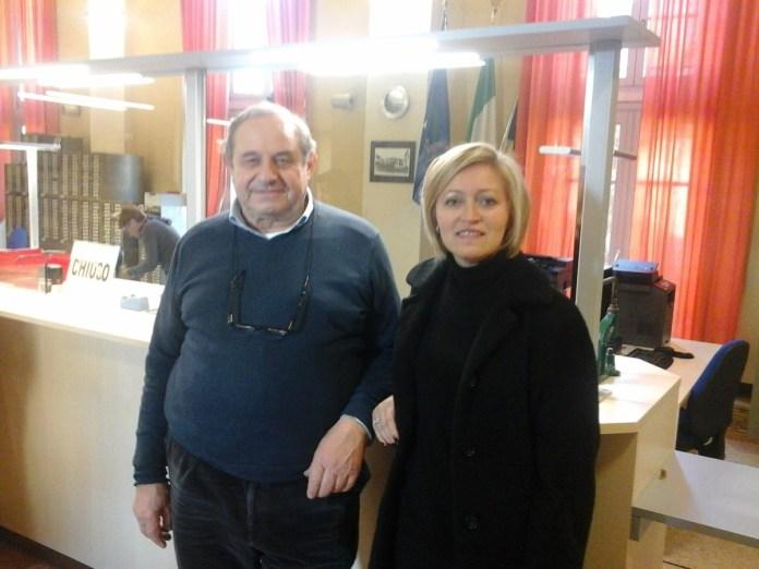 Pietro sturla e Cristina Almici inaugurano la nuova sede dell'anagrafe di Bagnolo Mella