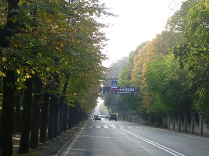 Viale Mazzini di Chiari, in provincia di Brescia
