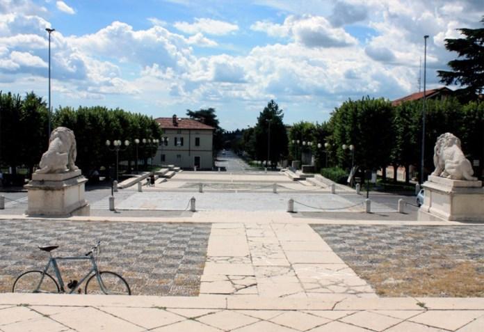 Piazza Veneto a Gussago