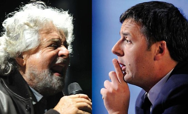 Renzi vs Grillo