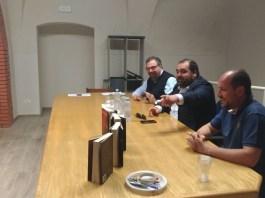 Dall'alto Paolo Festa, Nicola Fiorin e Angelo Bergomi, foto Andrea Tortelli per BsNews.it