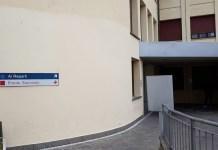 L'ingresso dell'ospedale di Iseo