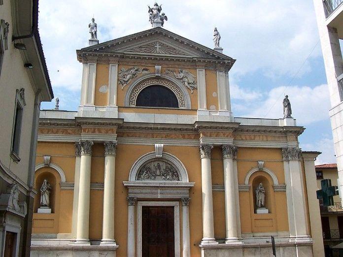 La chiesa parrocchiale di Santa Maria, a Palazzolo sull'Oglio