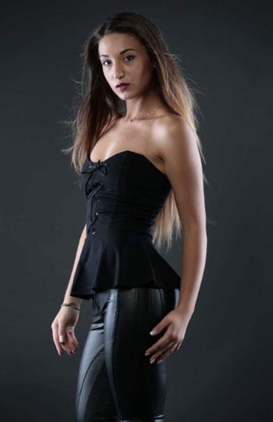 Giada Conforti, in corsa per il concorso di bellezza Miss Ciclismo
